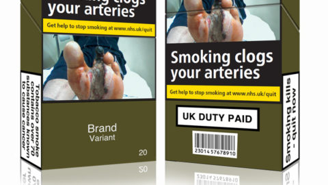Is plain cigarette packets with gruesome images a good idea?